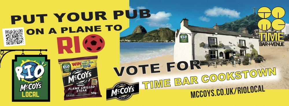 VOTE TIME BAR COOKSTOWN