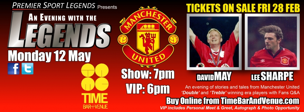 Man Utd legends TIME BAR